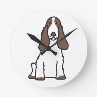 English Cocker Spaniel Dog Cartoon Wall Clock