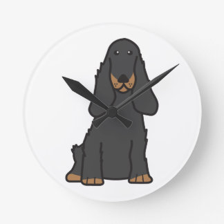 English Cocker Spaniel Dog Cartoon Wall Clocks