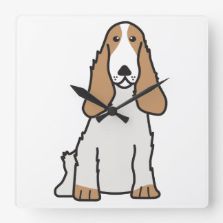 English Cocker Spaniel Dog Cartoon Wallclock