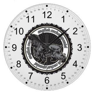 English Cocker Spaniel Large Clock