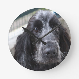 English Cocker Spaniel Round Clock