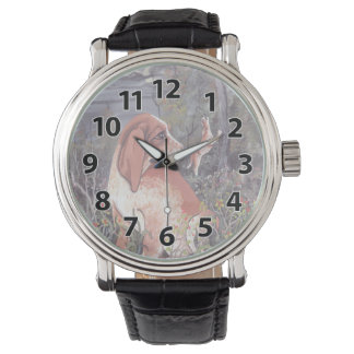 English Coonhound Puppy Dreamer Wristwatch