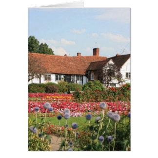 English cottage garden, Amersham, Bucks, UK Greeting Card