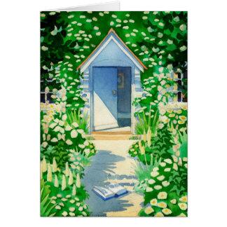 English Cottage Garden Art Greeting Cards