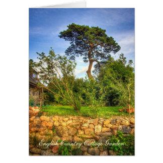English Cottage Garden blank notelet / card