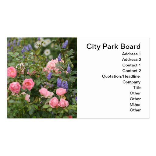 English Cottage Garden Business Cards