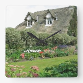 English Cottage Garden Clock