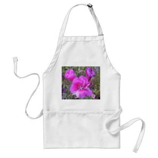 English cottage garden flowers apron