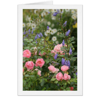 English Cottage Garden Greeting Card
