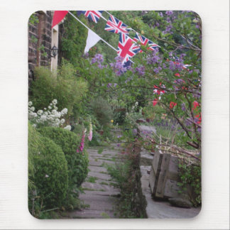 English cottage garden mousepad