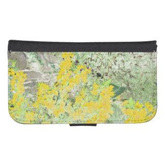 English cottage garden phone wallet case