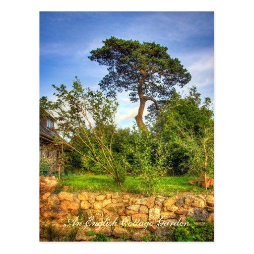 English Cottage Garden postcard