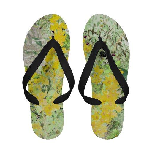English cottage garden sandals
