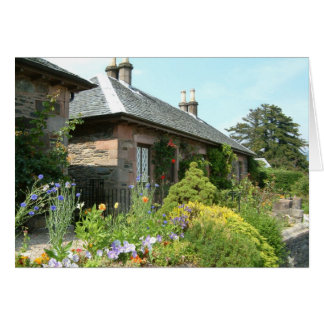 English Cottage II with Flower Garden Photography Card