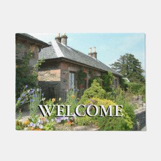 English Cottage II with Flower Garden Photography Doormat