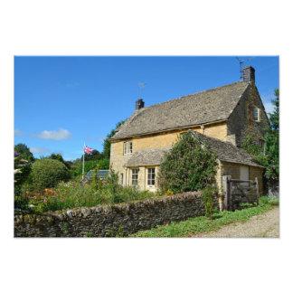 English cottage with garden photo print