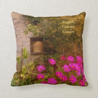 English Country House Garden in Summer Throw Pillow
