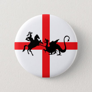 English flag George and the Dragon 6 Cm Round Badge