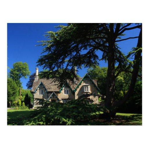 English Garden Cottage Postcard