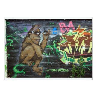 English graffiti 13 cm x 18 cm invitation card