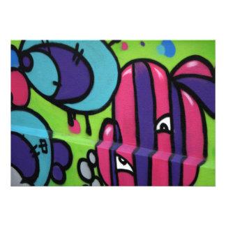 English Graffiti Personalized Invites