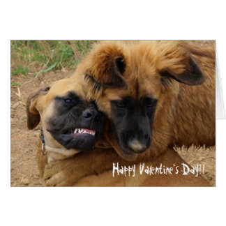 English Mastiff & Leonberger Funny Valentine card