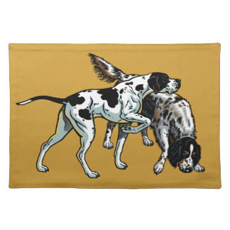 english pointer and setter placemat