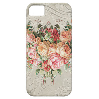 English Rose Bouquet, Vintage n Modern Swirl Leaf Case For The iPhone 5