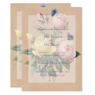English Rose Garden Wedding Invitation