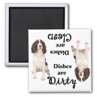 English Springer Lovers Spaniel Dishwasher Magnet