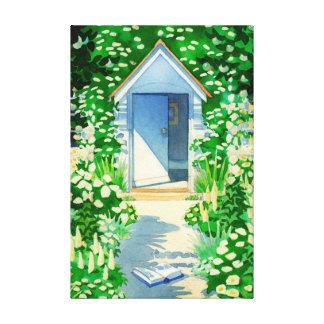 English Summer Cottage Garden Stretched Canvas Prints