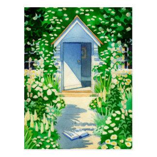 English Summer Cottage Garden Post Cards
