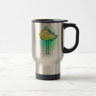 "English Teacher ""Grammar Bird"" Gifts Travel Mug"