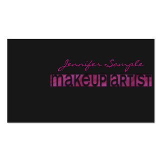 Engraved Makeup Artist Business Cards
