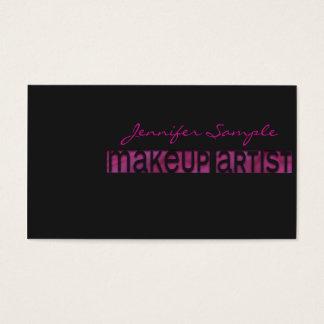 Engraved Makeup Artist Business Card