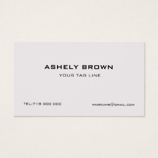Engraved Minimalist Business Card