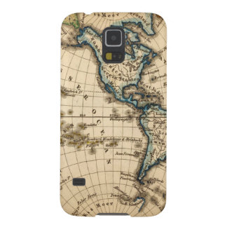 Engraved Western Hemisphere Map Galaxy S5 Cover