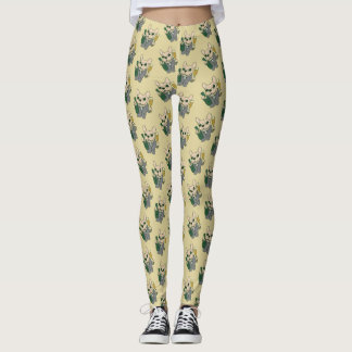 Enjoy Champagne with Frenchie at Your Celebration Leggings