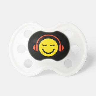 Enjoy music yellow DJ smiley face with headphones Dummy