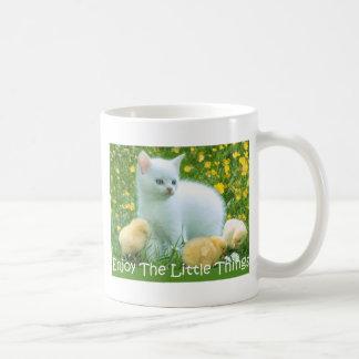 Enjoy The Little Things Cute Animals Basic White Mug