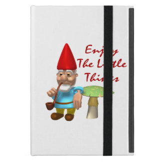 Enjoy The Little Things Gnome iPad Mini Cover