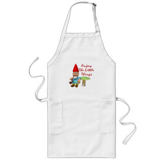 Enjoy The Little Things Gnome Long Apron