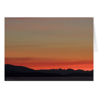 Enjoy your day with a beautiful sunset greeting card