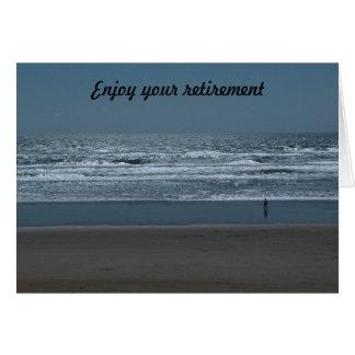 Enjoy your retirement greeting card