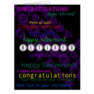 Enjoy your Retirement Repeating wishes XL card