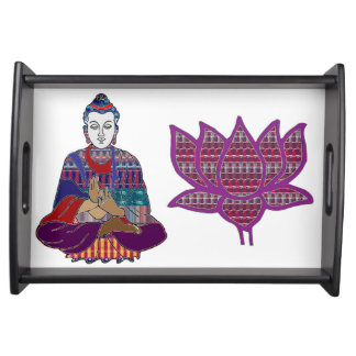Entertain in style BUDDHA n LOTUS Yoga Meditation Serving Tray
