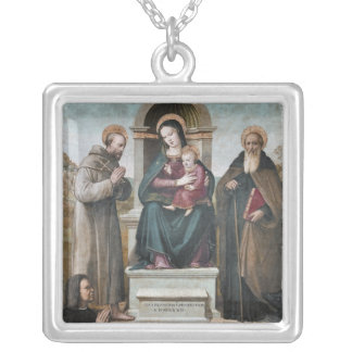 Enthroned Madonna and Child with Saints Pendants