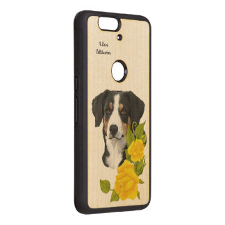 Entlebucher Mountain Dog and Yellow Roses Wood Nexus 6P Case