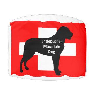 entlebucher mt dog name silo on switzerland flag.p pouf
