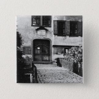 Entrance to Johann Sebastian Bach's  house 15 Cm Square Badge
